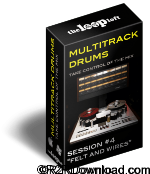 The Loop Loft Felt and Wires Multitrack Drums Session 4 WAV