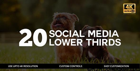 20 Social Media Lower Thirds Free Download