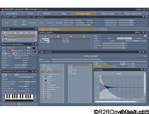 MeldaProduction MDrummer Large v7.02 Free Download (WIN-OSX)
