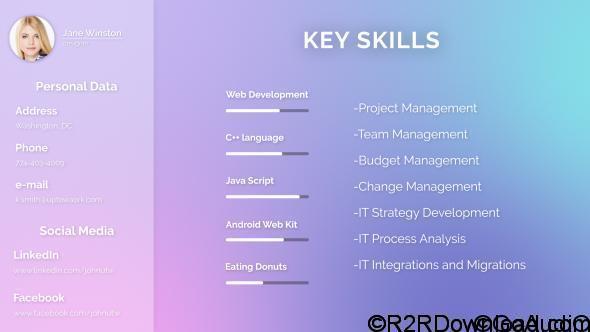 Minimal Visual Resume Free Download