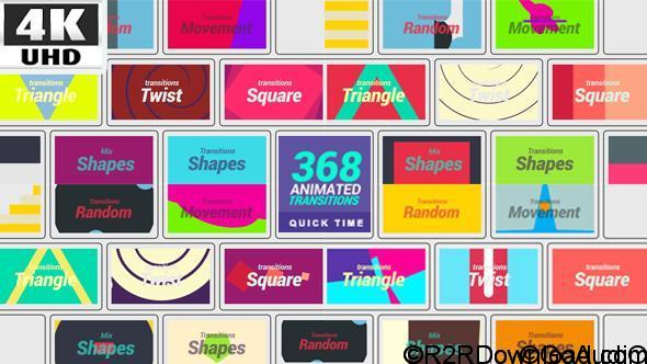 VIDEOHIVE 368 TRANSITIONS 4K – MOTION GRAPHICS FREE DOWNLOAD