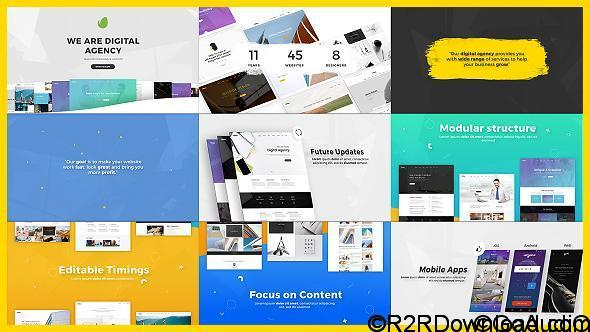 VIDEOHIVE DIGITAL AGENCY / STARTUP / WEBSITE PRESENTATION FREE DOWNLOAD