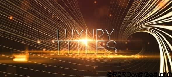 VIDEOHIVE ELEGANT LUXURY TITLES Free Download