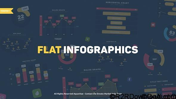VIDEOHIVE FLAT DESIGN INFOGRAPHICS FREE DOWNLOAD