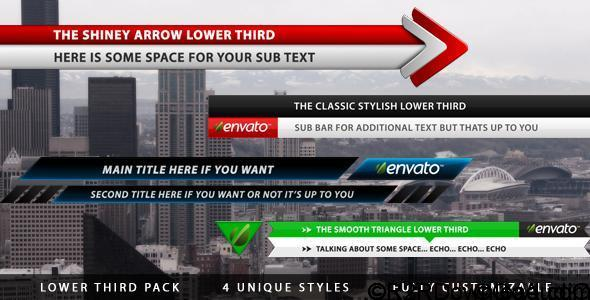 VIDEOHIVE LOWER THIRD PACK FREE DOWNLOAD