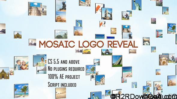 VIDEOHIVE MOSAIC LOGO REVEAL Free Download
