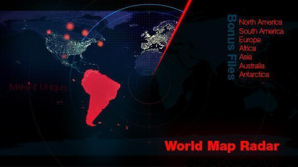 VIDEOHIVE WORLD MAP RADAR – MOTION GRAPHIC FREE DOWNLOAD