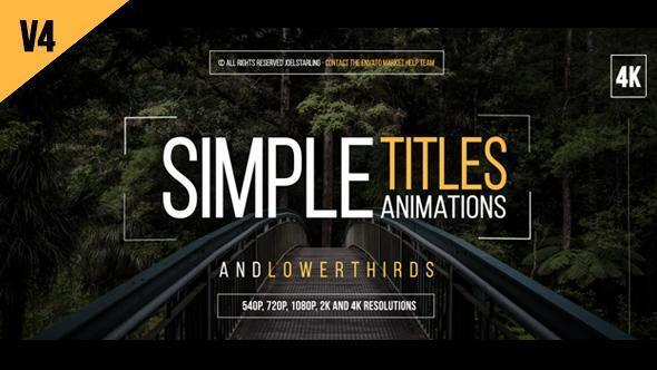 VideoHive 30 Simple Titles v4 Free Download