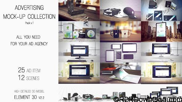 VideoHive Advertising Mock Up Collection Free Download