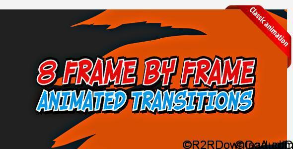 VideoHive Cartoon transitions 3884538 Free Download