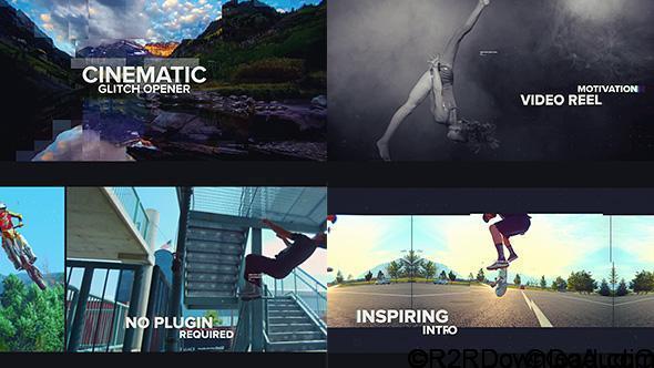 VideoHive Cinematic Glitch Opener Free Download