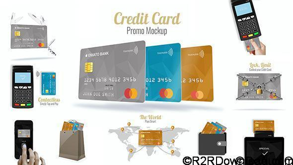 VideoHive Credit Card Promo Mock-up Free Download-20535580