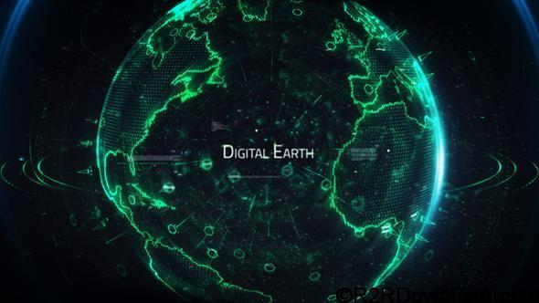VideoHive Digital Earth Title 20078736 Free Download