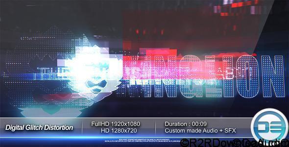 VideoHive Digital Glitch Distortion Logo Reveal Free Download