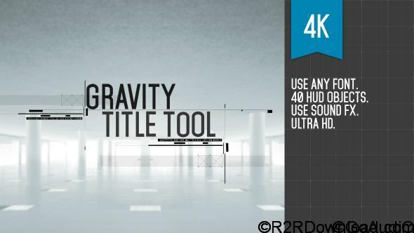 VideoHive Gravity Title Tool Free Download