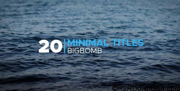 VideoHive Minimal Titles 20190986 Free Download