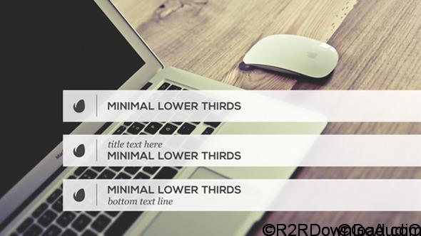 VideoHive Minimalist Lower Thirds Template Free Download