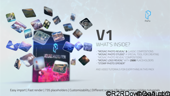 VideoHive Mosaic Photo Pack Free Download