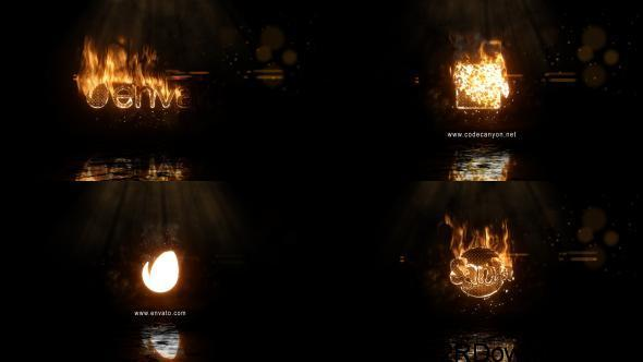 VideoHive Realistic Fire Logo 2 Free Download