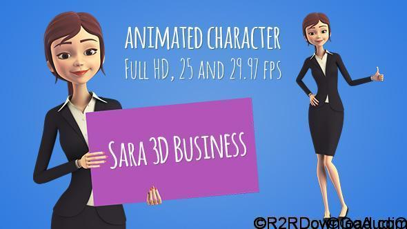 VideoHive Sara 3D Character in Business Suit – Beautiful Woman Presenter/Manager Free Download