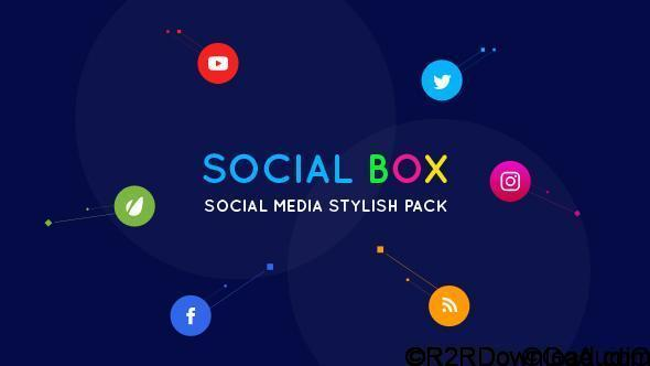VideoHive SocialBox Social Media Intro and Outro for Social Media Links Promotion 20534548 Free Download