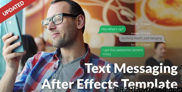 VideoHive Text Message with Photo and Video Options Free Download