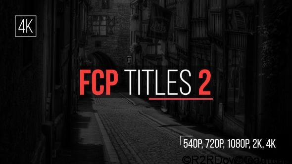 Videohive FCP Titles 2 Free Download