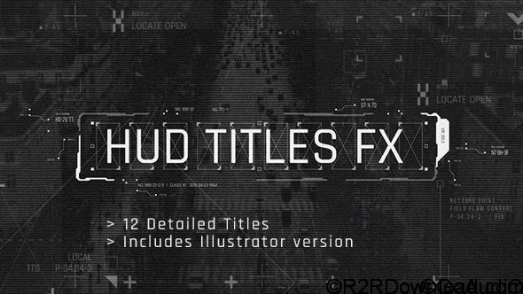 Videohive HUD Titles FX Free Download