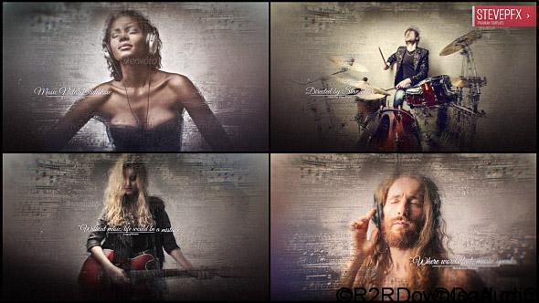 Videohive Music Notes Slideshow Free Download
