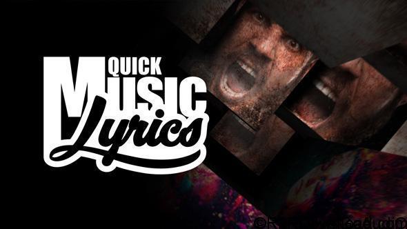 Videohive Quick Music Lyrics Free Download