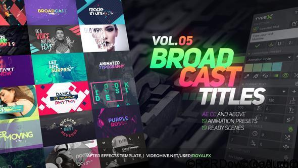Videohive TypeX – Text Animation Tool   VOL 05 Broadcast Titles Pack 20233979 (With 23 August 17 Update)