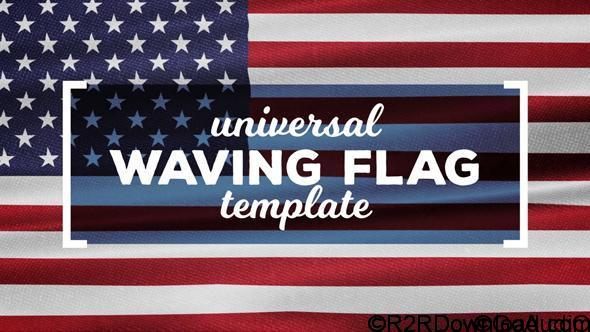 Videohive Waving Flags Maker Free Download