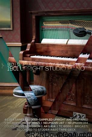 8Dio 1901 Upright Studio Piano KONTAKT