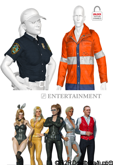 iClone Combo Pack – Professional Outfits: 3D Clothing for 3D Characters