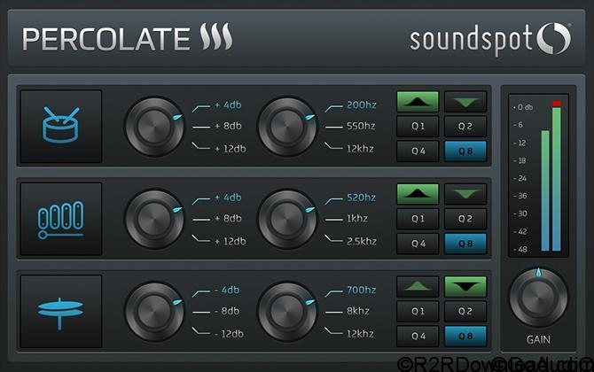 SoundSpot Percolate VST VST3 AU AAX v1.0.1 Free Download (WIN-OSX)