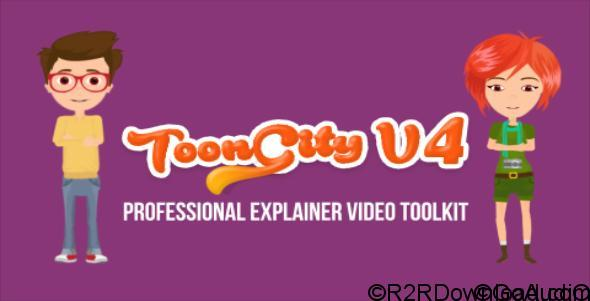 VIDEOHIVE EXPLAINER VIDEO TOOLKIT TOON CITY 4 FREE DOWNLOAD