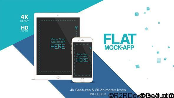 VIDEOHIVE FLAT MOCK APP COMMERCIAL FREE DOWNLOAD