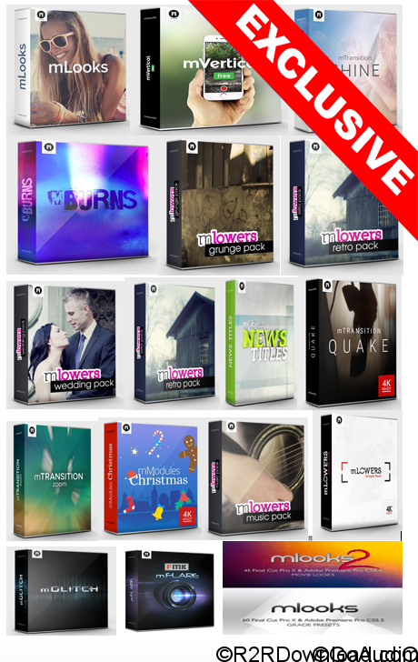 MotionVFX – Templates & Plugins Pack For Final Cut Pro X & Motion 5 (Mac OS X)