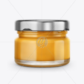 Glass Jar with Honey Mockup 49817 Free Download